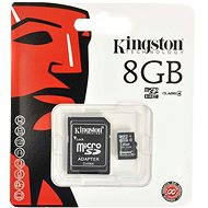 Kingston MicroSDHC 8GB Class 4 + SD adaptér - Paměťová karta