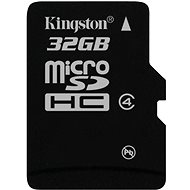 Kingston MicroSDHC 32GB Class 4 - Paměťová karta