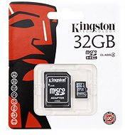 Kingston MicroSDHC 32GB Class 4 + SD adaptér - Paměťová karta
