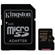 Kingston MicroSDXC 64GB Class 10 UHS-I + SD adaptér - Paměťová karta