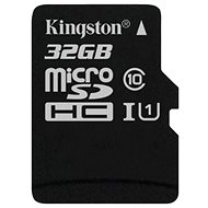 Kingston MicroSDHC 32GB Class 10 UHS-I - Paměťová karta