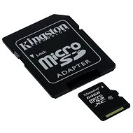 Kingston MicroSDXC 64GB Class 10 UHS-I + SD adaptér - Paměťová karta