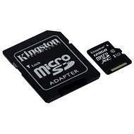 Kingston MicroSDXC 128GB Class 10 UHS-I + SD adaptér - Paměťová karta
