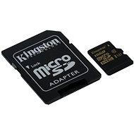 Kingston MicroSDHC 16GB UHS-I U3 + SD adaptér - Paměťová karta
