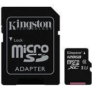 Kingston Canvas Select MicroSDXC 128GB UHS-I U1 + SD adaptér - Paměťová karta