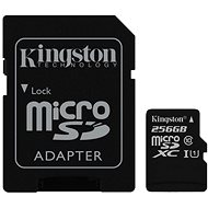 Kingston Canvas Select MicroSDXC 256GB UHS-I U1 + SD adaptér - Paměťová karta