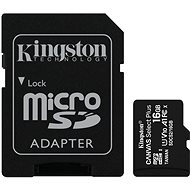 Kingston Canvas Select Plus micro SDHC 16GB Class 10 UHS-I + SD adaptér - Paměťová karta