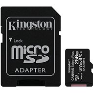 Kingston Canvas Select Plus micro SDXC 256GB Class 10 UHS-I + SD adaptér - Paměťová karta
