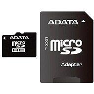 ADATA MicroSDHC 8GB Class 4 + SD adaptér - Paměťová karta