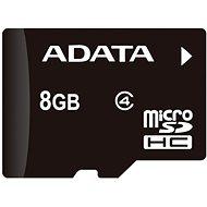 ADATA MicroSDHC 8GB Class 4 + OTG mikro čtečka - Paměťová karta