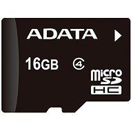 ADATA MicroSDHC 16GB Class 4 + OTG mikro čtečka - Paměťová karta