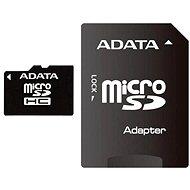 ADATA MicroSDHC 8GB Class 10 + adaptér - Paměťová karta