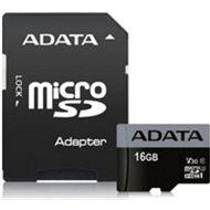 ADATA Premier Pro V30S micro SDHC 16GB UHS-I U3 + SD adaptér - Paměťová karta