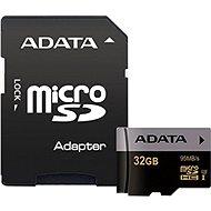 ADATA Premier Pro V30G micro SDHC 32GB UHS-I U3 + SD adaptér - Paměťová karta