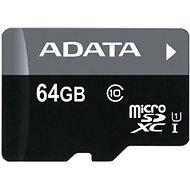 ADATA Premier micro SDXC 64GB UHS-I A1 Class 10 + SD adaptér - Paměťová karta