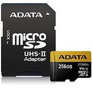 ADATA Premier ONE MicroSDXC 256GB UHS-II U3 Class 10 + SD adaptér - Paměťová karta