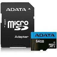 ADATA Premier MicroSDXC 64GB UHS-I Class 10 + SD adaptér - Paměťová karta