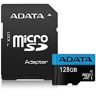 ADATA Premier MicroSDXC 128GB UHS-I Class 10 + SD adaptér - Paměťová karta