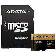 ADATA XPG MicroSDXC 64GB UHS-I U3 Class 10 + SDHC adaptér - Paměťová karta