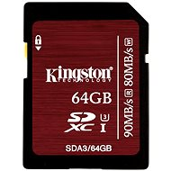 Kingston SDXC 64GB Class 10 UHS-I U3 - Paměťová karta