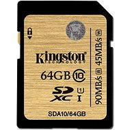 Kingston SDXC 64GB UHS-I Class 10 - Paměťová karta