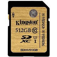 Kingston SDXC 512GB UHS-I Class 10 - Paměťová karta