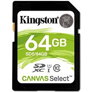 Kingston Canvas Select SDXC 64GB UHS-I U1 - Paměťová karta
