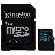 Kingston Canvas Go! MicroSDHC 32GB UHS-I U3 + SD adaptér - Paměťová karta