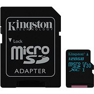 Kingston Canvas Go! MicroSDXC 128GB UHS-I U3 + SD adaptér - Paměťová karta