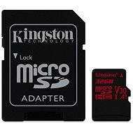 Kingston Canvas React MicroSDHC 32GB A1 UHS-I V30 U3 + SD adaptér - Paměťová karta