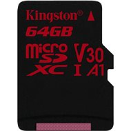 Kingston Canvas React MicroSDXC 64GB A1 UHS-I V30 - Memory Card