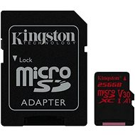 Kingston Canvas React MicroSDXC 256GB A1 UHS-I V30 U3 + SD adaptér - Paměťová karta