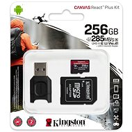 Kingston Canvas React Plus microSDXC 256GB + SD adaptér a čtečka karet - Paměťová karta