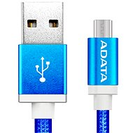 ADATA microUSB 1m modrý - Datový kabel