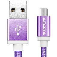 ADATA microUSB 1m fialový - Datový kabel
