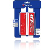 "Verbatim 2.5"" GT Superspeed USB HDD 500GB Red/ white - Externí disk"