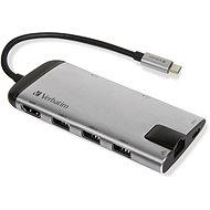 VERBATIM USB-C Multiport HUB USB 3.1 GEN 1/ 3x USB  3.0/ HDMI/ SDHC/ microSDHC/ RJ45 - Replikátor portů