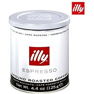 ILLY Dark Roasted, mletá, 125g