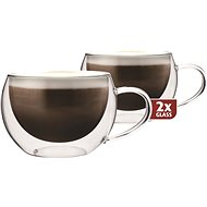 Maxxo Thermo DH913 Cappucino Glass Cups - Thermo-Glass