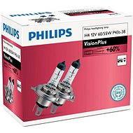 PHILIPS H4 VisionPlus, 60/55W, patice P43t-38, 2 ks - Autožárovka