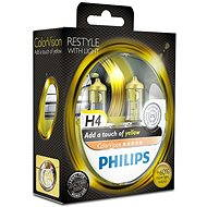 PHILIPS H4 ColorVision Yellow, patice P43t-38, 2 ks - Autožárovka