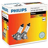 PHILIPS H7 Vision, 55W, socket PX26d, 2pcs - Car Bulb