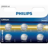 Philips CR2032P6 6ks v balení - Knoflíkové baterie