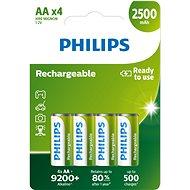 Philips R6B4RTU25 4 ks v balení - Nabíjecí baterie