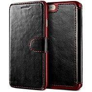 Verus Dandy Layered Leather Case pro iPhone 7/8 černo-vínové - Pouzdro na mobilní telefon