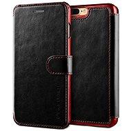 Verus Dandy Layered Leather Case pro iPhone 7/8 Plus černo-vínové - Pouzdro na mobilní telefon