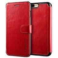 Verus Dandy Layered Leather Case vínovo-černé - Pouzdro na mobilní telefon