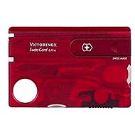 Pocket knife Victorinox Swiss Card Lite Translucent red - Knife