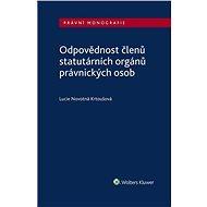 Odpovědnost členů statutárních orgánů právnických osob - Elektronická kniha