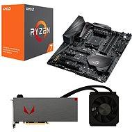 AMD RADEON VEGA AQUA PACK + AMD Ryzen 7 1700X + Asus X370 - Set
